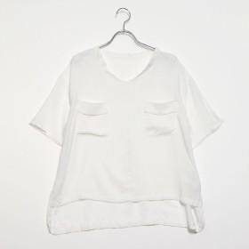 テチチ テラス アウトレット Te chichi TERRASSE outlet Wポケ付スキッパーシャツ (オフホワイト)