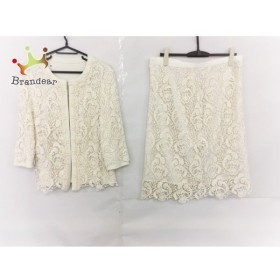 ドゥクラッセ DoCLASSE スカートスーツ サイズXL レディース 美品 白 花柄  値下げ 20191019