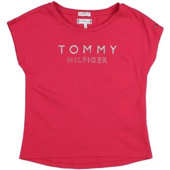 《期間限定 セール開催中》TOMMY HILFIGER ガールズ 3-8 歳 T シャツ フューシャ 3 コットン 100%