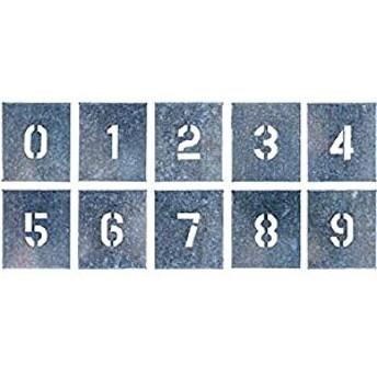 つくし工房 吹付プレート 数字(0~9) 10枚組 中サイズ J-91B [A230101]