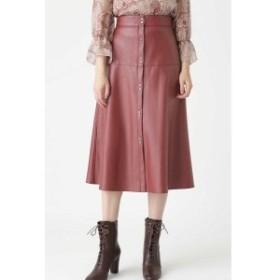 ジルスチュアート(JILLSTUART)/◆フロウフレアフェイクレザースカート