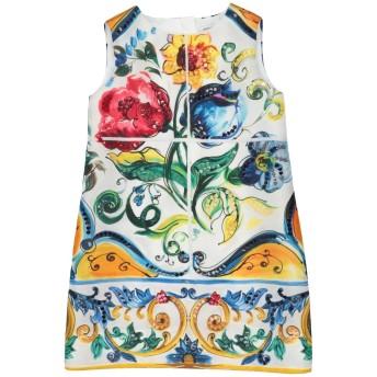 《セール開催中》DOLCE & GABBANA ガールズ 0-24 ヶ月 ワンピース・ドレス ホワイト 24 シルク 100%