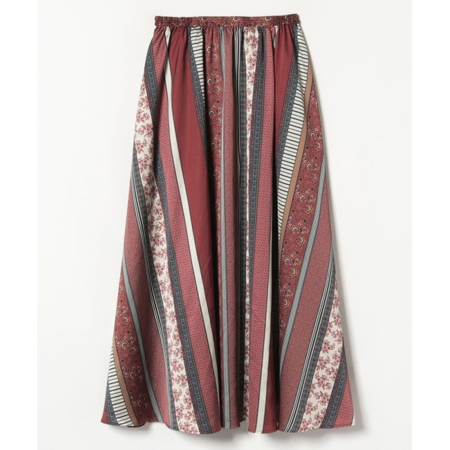 ミックスプリントスカート