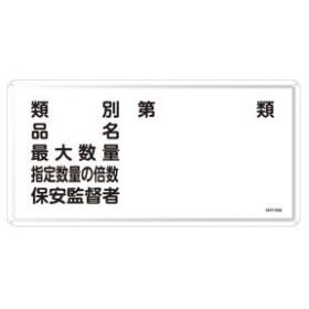日本緑十字社  危険物標識 危険物の類別・・・ (ヨコ) No.055116 [A061700]