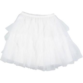 《セール開催中》MONNALISA CHIC ガールズ 3-8 歳 スカート ホワイト 6 ナイロン 100%