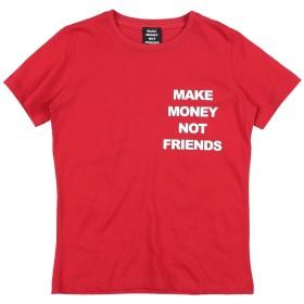 《期間限定 セール開催中》MAKE MONEY NOT FRIENDS ガールズ 3-8 歳 T シャツ レッド 8 コットン 100%