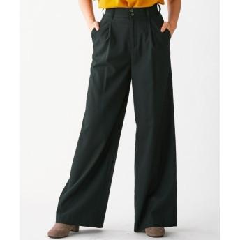 ワイドパンツ(ゆったりヒップ) (大きいサイズレディース)パンツ, plus size pants