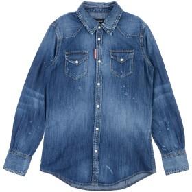 《期間限定 セール開催中》DSQUARED2 ボーイズ 9-16 歳 デニムシャツ ブルー 10 コットン 100%