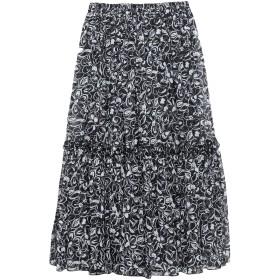 《セール開催中》MICHAEL KORS COLLECTION レディース 7分丈スカート ブラック 2 シルク 100%