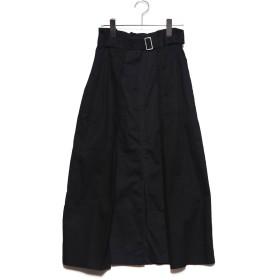 スタイルブロック STYLEBLOCK 綿ツイル配色タックスカート (ブラック)