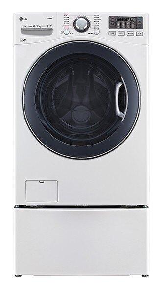 ***東洋數位家電***請議價 LG WD-S16VBD + WT-D250HW TWINWash 雙能洗(蒸洗脫烘) 典雅白 / 16公斤+2.5公斤洗衣容量
