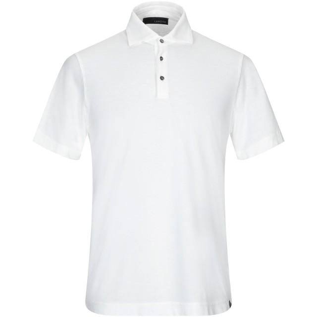 《セール開催中》LARDINI メンズ ポロシャツ ホワイト 56 コットン 100%