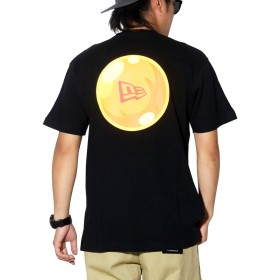 [ニューエラ] ドラゴンボール コラボ Tシャツ メンズ NEW ERA フラッグロゴ ブラック 黒 12110844 M