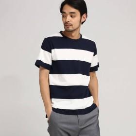 BASE CONTROL(ベースステーション:メンズ)/Tシャツ メンズ ボーダー OhCool 太ボーダー半袖T