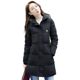 [クルーズライン] レディース スリム ロング ダウンジャケット ダウンコート アウター ダウン ジャケット コート 軽量 防寒 B67 (ブラック, XL)