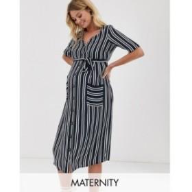 ママリシャス Mama.licious レディース ワンピース ワンピース・ドレス Mamalicious stripe shirt dress Blue stripe
