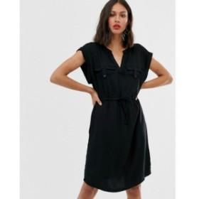 オンリー Only レディース ワンピース ワンピース・ドレス shirt dress Black