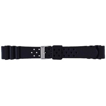 時計バンド B-X ウレタン(18-16mm・黒) BG110AP