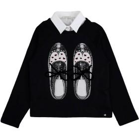 《期間限定 セール開催中》MISS GRANT ガールズ 9-16 歳 スウェットシャツ ブラック 9 コットン 94% / ポリウレタン 6% / ナイロン