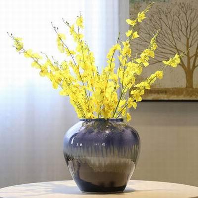 【寥若晨星檯面花瓶-26*26cm-1款/組】景德鎮手工陶瓷裝飾花器擺設花插可水培(不含花)-7501045