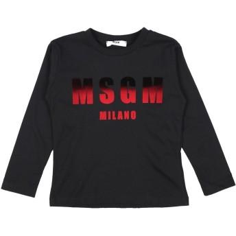 《9/20まで! 限定セール開催中》MSGM ボーイズ 3-8 歳 T シャツ ブラック 4 コットン 100%