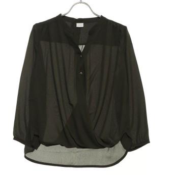 テチチ アウトレット Te chichi outlet ジョーゼットカシュクールシャツ (カーキ)