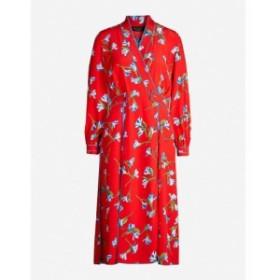 ラグ&ボーン RAG & BONE レディース ワンピース ワンピース・ドレス Hugo floral-print crepe midi dress Red floral