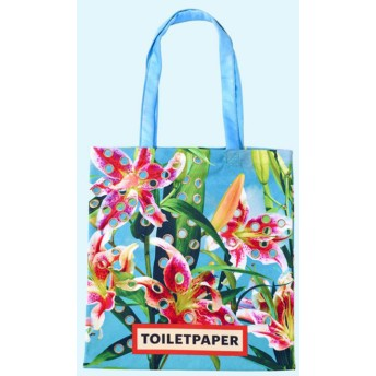 Toiletpaper トートバッグ Flowers With Holes