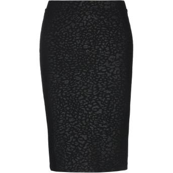 《期間限定セール開催中!》GUESS レディース ひざ丈スカート ブラック L ポリエステル 96% / ポリウレタン 4%