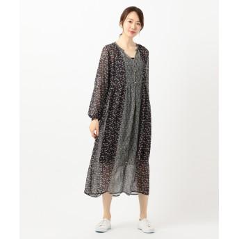 〈ne Quittez pas〉レーヨンフロントボタン ドレス