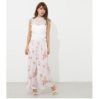 【rienda:パンツ】Calm flower J/WワイドPT