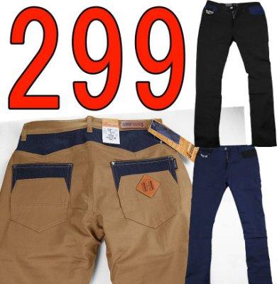 【肚子大】B606-彈力休閒褲-合身窄版-五角剪接口袋-修飾身形