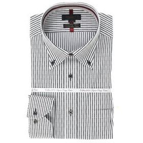【m.f.editorial:トップス】綿100% 形態安定 スリムフィットボタンダウン長袖モードデザインビジネスドレスシャツ/ワイシャツ