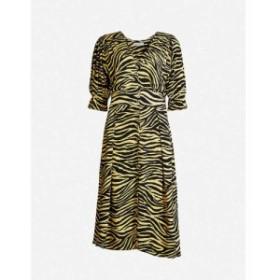 フェイスフルザブランド FAITHFULL THE BRAND レディース ワンピース ワンピース・ドレス Rafa zebra-print rayon midi dress Amaia zebr