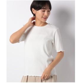 Te chichi Lugnoncure ワイドリブ5分袖プルオーバー 5S(オフ)【返品不可商品】
