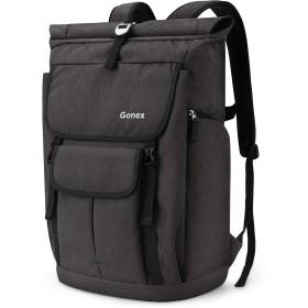 Gonex ロールトップ リュック 大容量 リュック メンズ カジュアル リュック ビジネスリュック 35L 防水 軽量 旅行 通勤 通学 アウトドア リュックサック PC バッグ バックパック