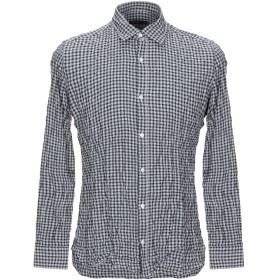 《期間限定セール開催中!》GIAMPAOLO メンズ シャツ ブラック 40 コットン 100%