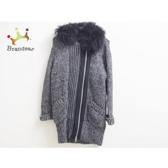マカフィ MACPHEE コート サイズ38 M レディース 美品 黒×グレー 春・秋物/ニット/ファー 新着 20190821