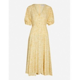 フェイスフルザブランド FAITHFULL THE BRAND レディース ワンピース ワンピース・ドレス Delia snake-print rayon midi dress Petra sna