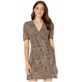 ワンステート 1.STATE レディース ワンピース ワンピース・ドレス Short Sleeve Asymmetrical Button Front Leopard Muse Dress Caramel