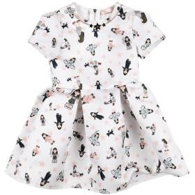《セール開催中》ELISABETTA FRANCHI ガールズ 3-8 歳 ワンピース&ドレス ホワイト 4 ポリエステル 100%