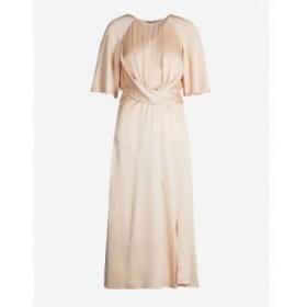 リース REISS レディース ワンピース ワンピース・ドレス Arlo gathered-waist satin dress Light pink