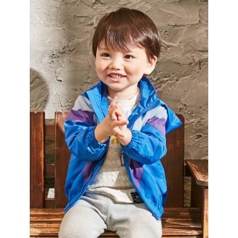 【ANGELIEBE/エンジェリーベ】【Caldia】切替ウィンドブレーカー ブルー 80