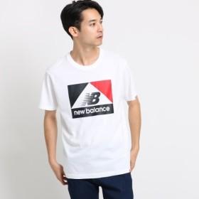 [マルイ] new balance コットン(綿)ボックスロゴコンフォートTシャツ/オペークドットクリップ(メンズ)(OPAQUE. CLIP Mens)
