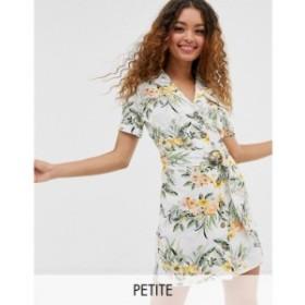 ミス セルフリッジ Miss Selfridge Petite レディース ワンピース ワンピース・ドレス utility dress in tropical print Multi