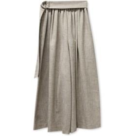 'PalinkA(パリンカ)/リネンライクベルト付スカート風パンツ