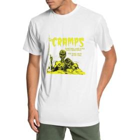 メンズ 丸襟 Tシャツ The Cramps けいれん 半袖 Tシャツ メンズ おしゃれ 快適な 無地 軽い 柔らかい カジュアルtシャツ 綿 夏 シンプル 父の日 通勤 通学