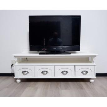 【送料無料】ヨーロピアンアンティーク調テレビボードW120cm(ホワイト)