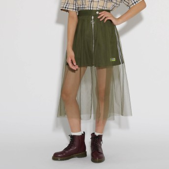PINK-latte(ピンクラテ)/★チュール重ね台形 スカート