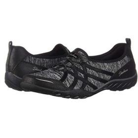 [スケッチャーズ] レディーススニーカー・靴・シューズ Breathe Easy - Untroubled Black (24.5cm) B - Medium [並行輸入品]